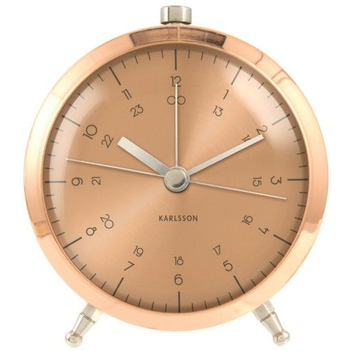 Karlsson Button Alarm Clock Copper