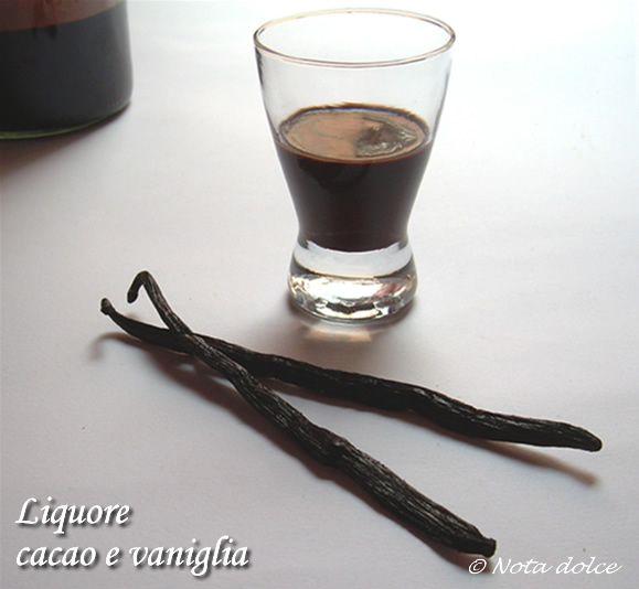 Liquore cacao e vaniglia, ricetta bevanda