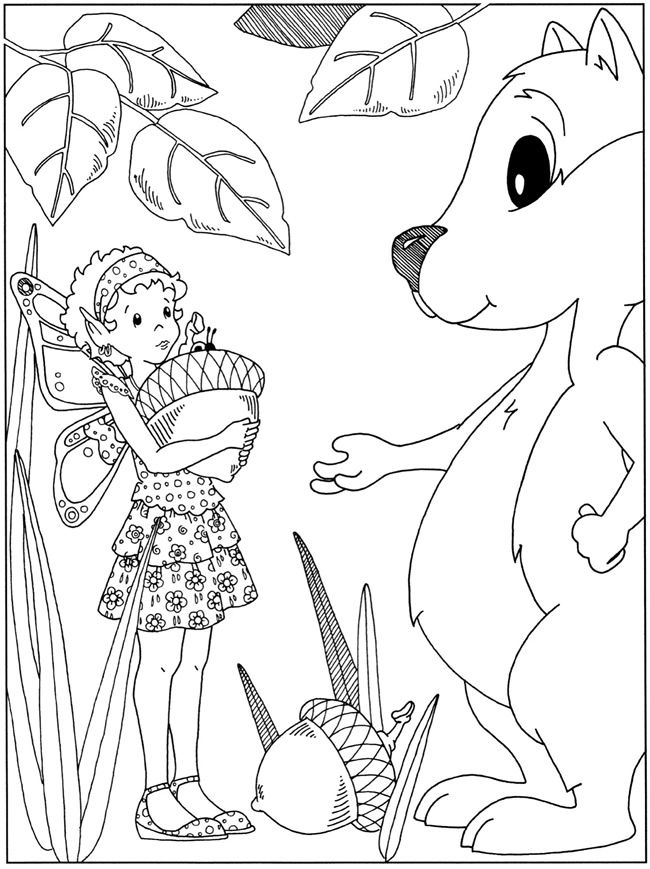 coloring page from dover fanciful fairies and dazzling dragons coloring book dover publications