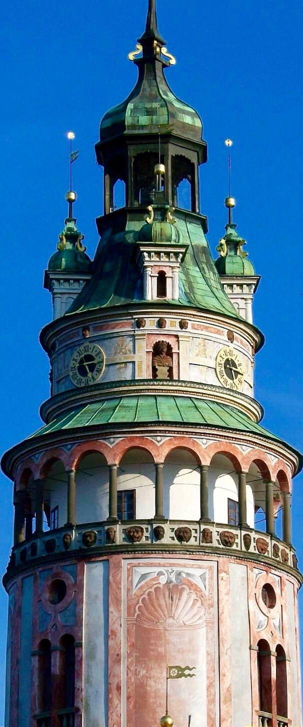 Česky Krumlov Castle Tower - Česky Krumlov,Czech Republic - a UNESCO World Heritage Site