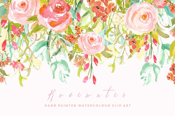 Flower Clip Art - Rosewater by CreateTheCut on Creative Market
