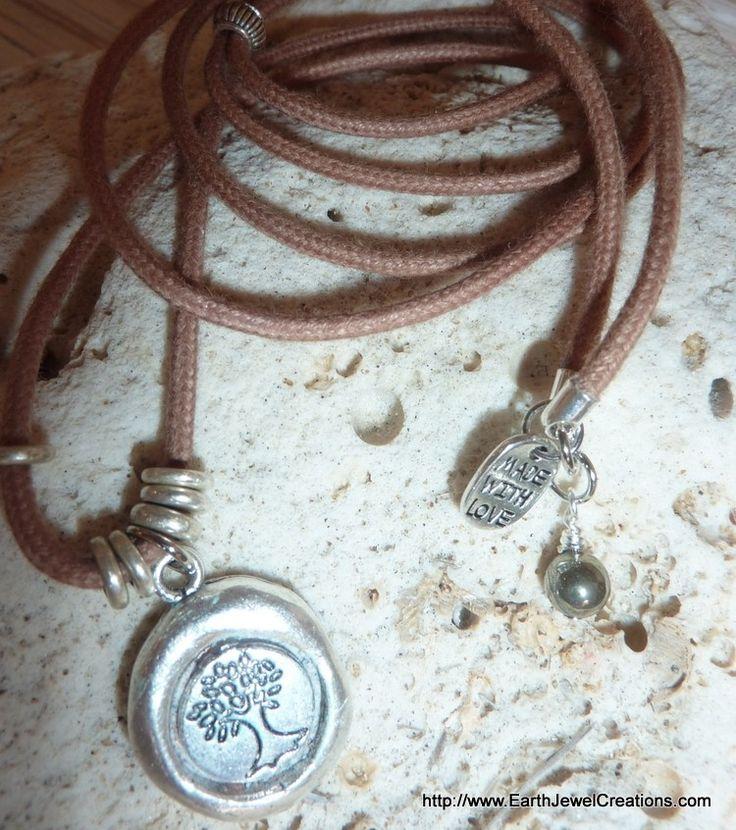 Tree Of Life Pendant - handmade crystal energy gemstone jewellery Earth Jewel Creations Australia