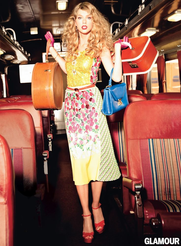 Taylor Swift wearing Marc Jacobs Resort 2013 in Glamour Magazine, November 2012