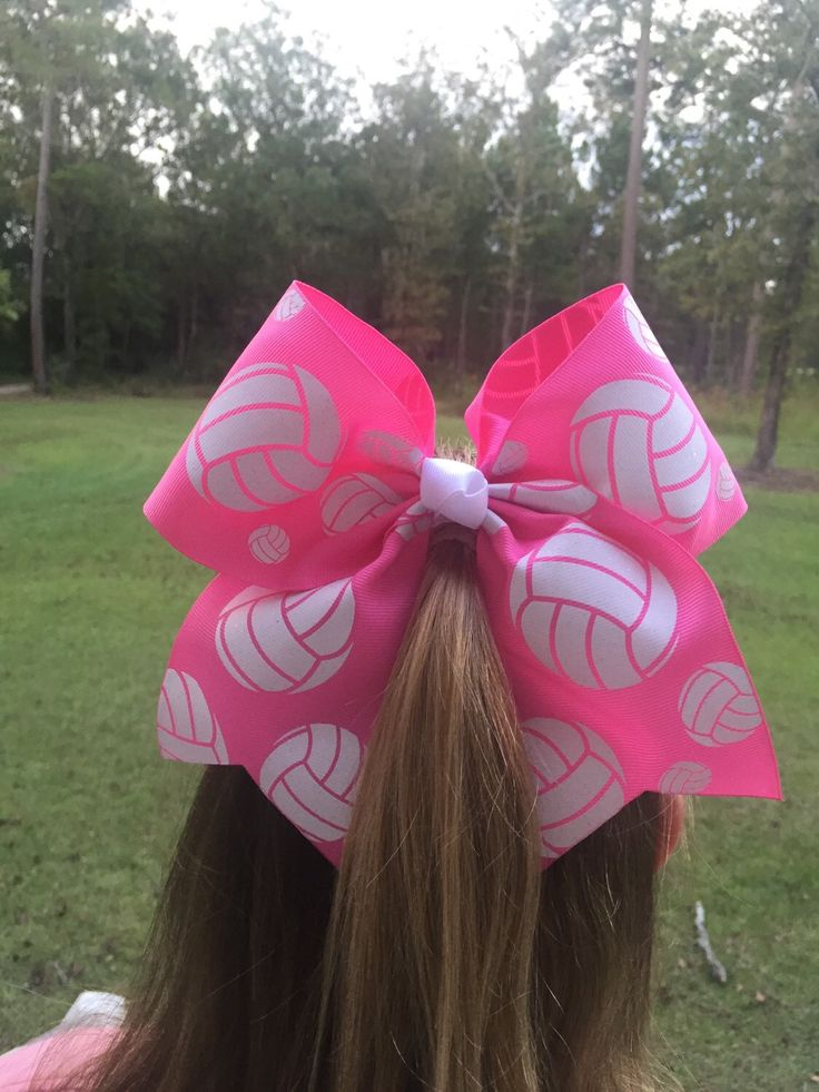 Volleyball Hair Bow Pink Volleyball Breast Cancer Support Bow by bowsforthebelle on Etsy https://www.etsy.com/listing/467148450/volleyball-hair-bow-pink-volleyball