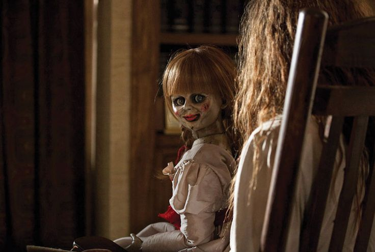 "The doll from new horror movie ""The Conjuring"" beckons you to the movies. Grrrr."