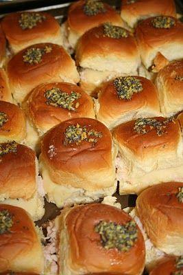 Mama's a Mess!: King's Hawaiian Bread - Mini Turkey & Cheese Sandwiches