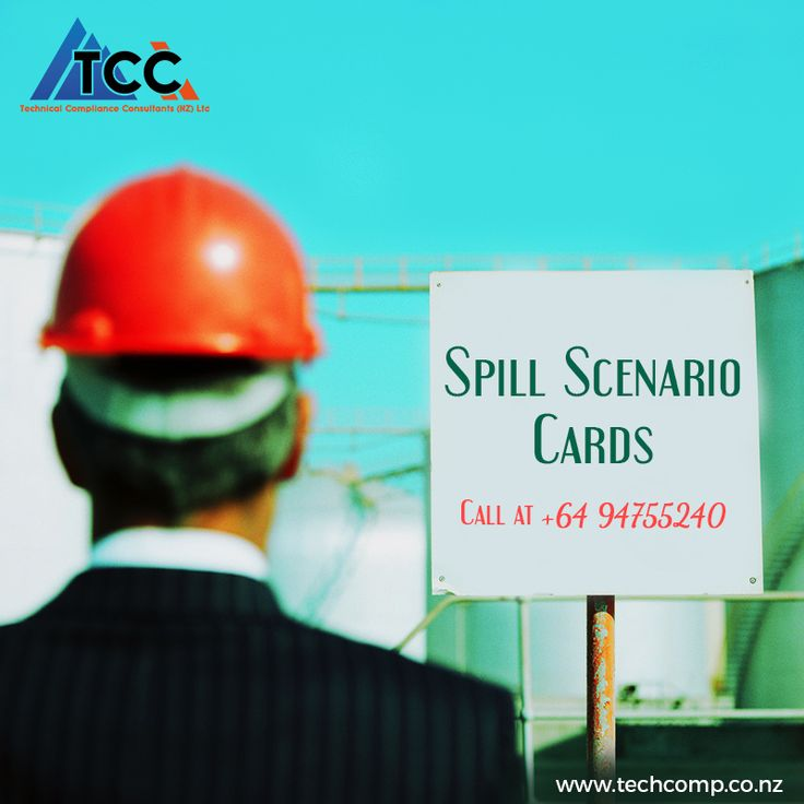 Technical Compliance Consultants provides you with #SpillScenarioCards, which are highly effective in #Training your employees in responding properly in case of a #Chemical #Spill: http://techcomp.co.nz/