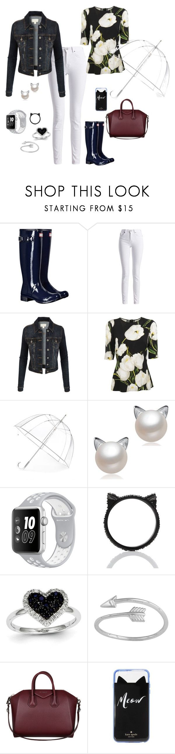 Dia de chuva! II by simone-silva-s2 on Polyvore featuring moda, Dolce&Gabbana, LE3NO, Barbour International, Hunter, Givenchy, Kevin Jewelers, Kate Spade, Midsummer Star and Totes