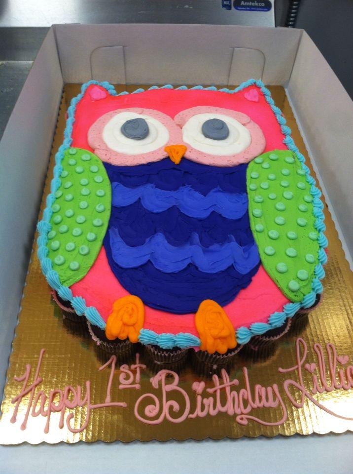 Owl pull apart cake
