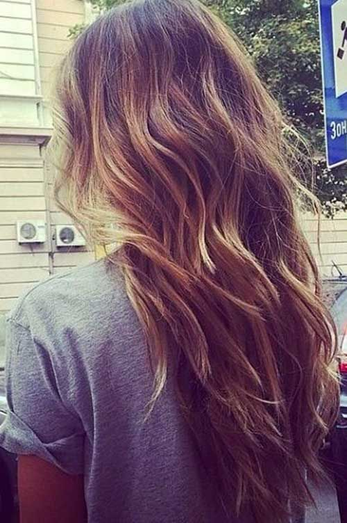long wavy layers ideas