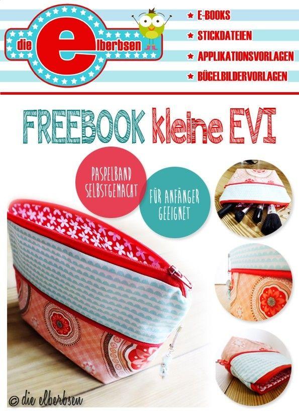 gratis Anleitung Kosmetiktasche nähen - DIY