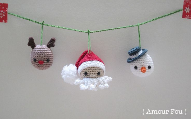 Christmas Garland - FREE PATTERN by {Amour Fou}