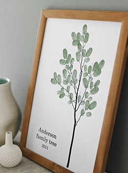 Family Thumbprint TreeFingerprints Trees, Family Trees, Thumb Prints, Gift Ideas, Fingerprints Families, Thumbprint Trees, Families Fingerprints, Families Trees, Families Thumbprint
