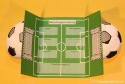 Einladungskarte Fußball