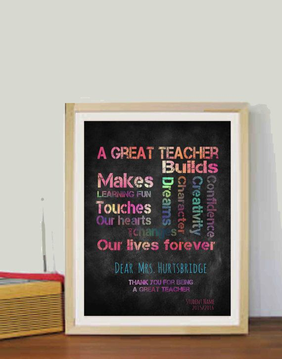 Chalkboard Teachers Gifts Year end gifts Teacher quotes