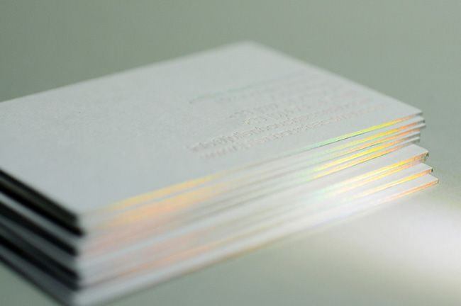 diffraction foil fore-edge printing process on the outside edges