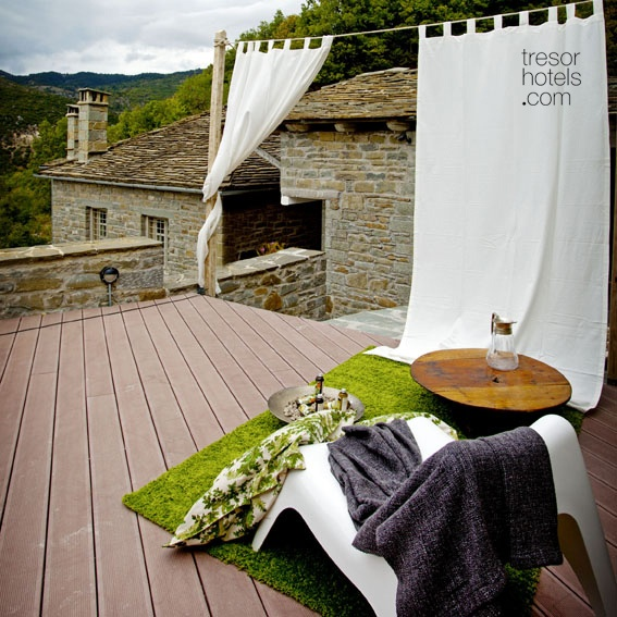 "Trésor Hotels and Resorts_Luxury Boutique Hotels_#Greece_  #Mikro Papigo 1700 Hotel and Spa is not yet another hotel in the area of Zagori. It is the first ever ""green"" #hotel in the whole of #Epirus region that has won awards for its consciousness for ecology and combines all that you could ever wish from your selected boutique hotel: a fairytale landscape, an immense choice of outside activities, traditional concepts, design aesthetics and unbeatable services."