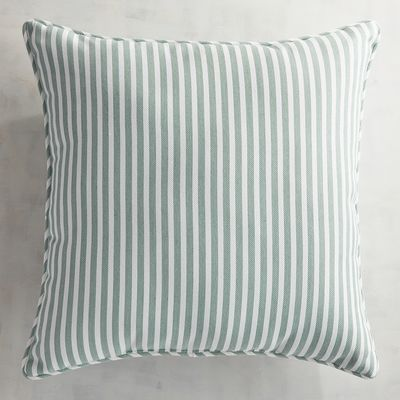 Clean, yarn-dyed stripes add a summer freshness to your outdoor furniture. Our Dover fabric, a soft twill weave, comes in colors that easily coordinate with our other solid fabrics. It's available in pillows, plus contour and modular cushions in standard and large sizes, as well as dining cushions.