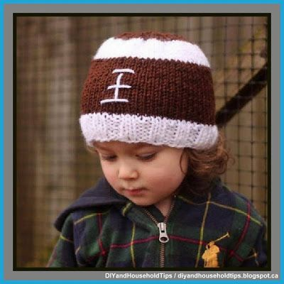 DIY And Household Tips: Knitted Football Baby Hat (FREE PATTERN)