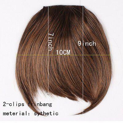 Details über 100% natürliche Haarverlängerung Clip im vorderen Haar Pony ordentlich Fringe für Menschen SN66