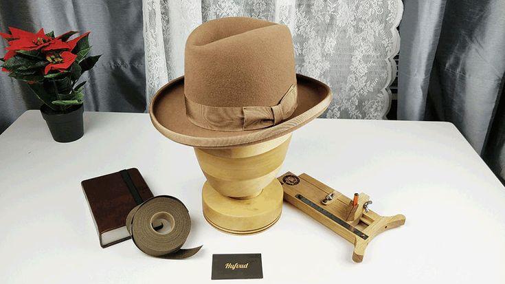 Excited to share the latest addition to my #etsy shop: SVEN HOMBURG HAT, custom leather sweatband, vintage fedora 1920, Custom made, Rabbit mix fur felt, wedding hat style, dress hat, unisex http://etsy.me/2z3jBVq #accessories #hat #birthday #gold #fedora #vintagehat #