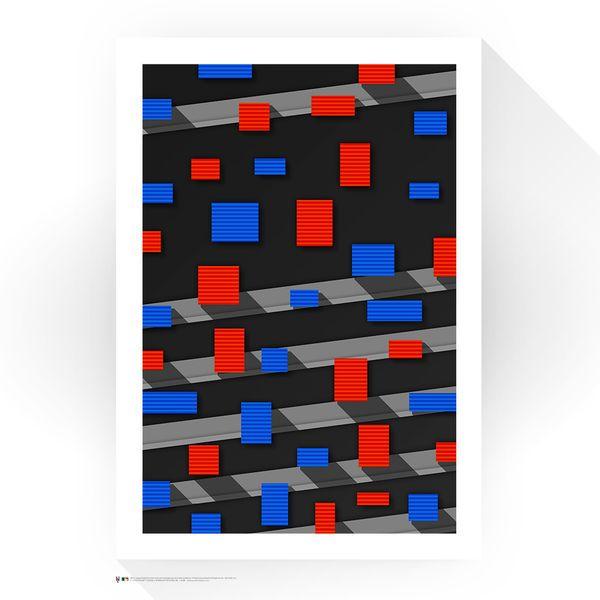 "New York Mets 24"" x 32"" Shea Stadium The Panels Minimalist Art Giclee Print - $249.99"