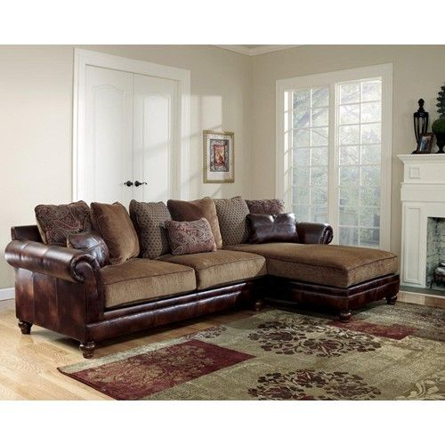 1000 images about living room seating on pinterest nail for Ashley furniture leather sectional with chaise