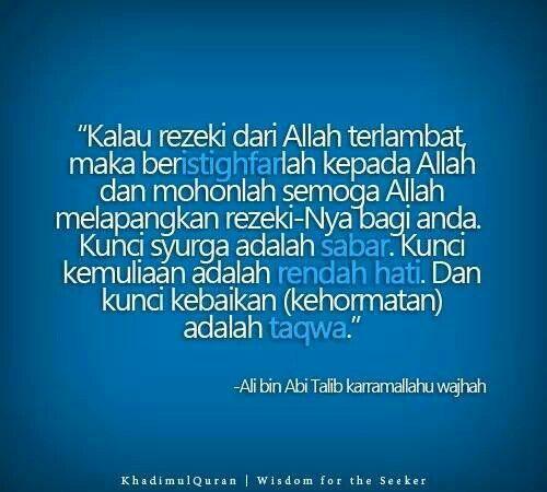 Rezeki Allah swt...