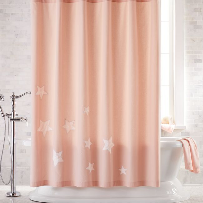 Pink Star Shower Curtain In 2020 Shower Pink Stars Pink Shower