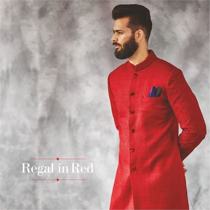 Style tip: A pocket square adds just the right amount of zing to the ensemble. Need we say more?  #royal #anitadongre #NeoMaharana #colouroftheseason