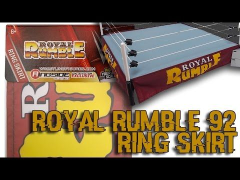 Ring Skirt (Royal Rumble 1992) - Ringside Collectibles Exclusive WWE Authentic Scale Ring Accessories for your Toy Wrestling Action Figures!
