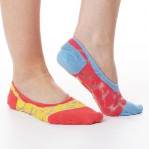 School of Fish Jelly No-Show Liner Socks  Summertime style is swimming our way and these fab no-show liner socks tell the tale! A barely-there style that peeks through flats and loafers in a lightweight, jelly-inspired fabric leaves your flippers feeling cool  #funkysocks