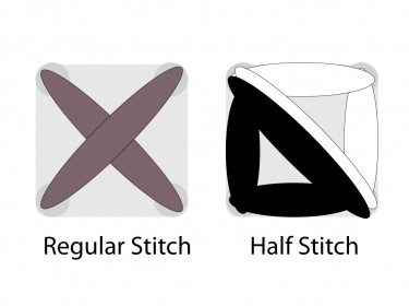 half cross stitch instructions