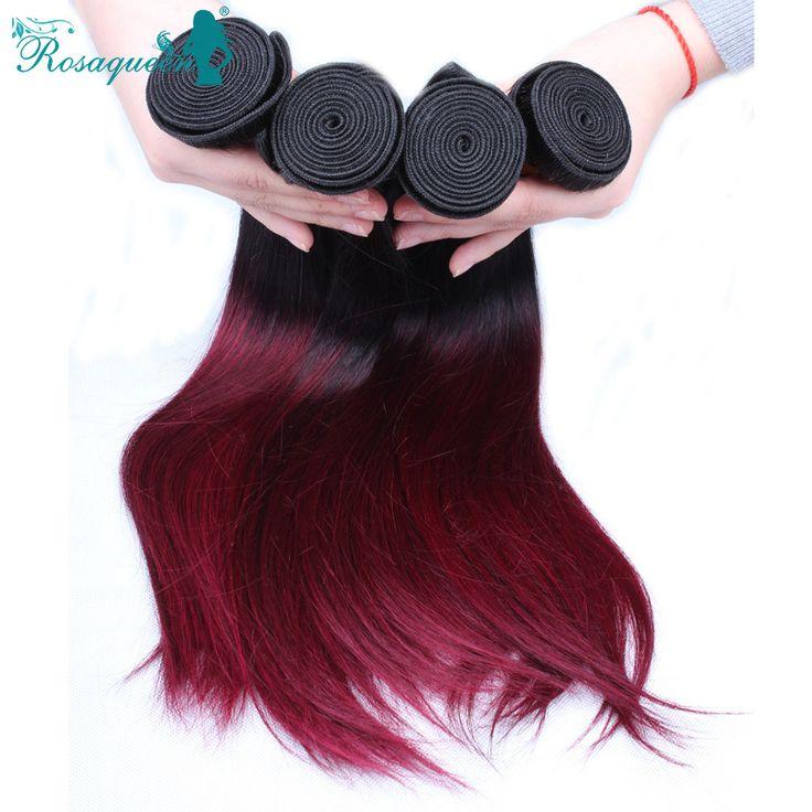 Malaysian Virgin Hair Straight Ombre Human Hair Extensions 1B/99J Malaysian Straight Hair Weave Bundles 3Pcs/Lot Free Shipping