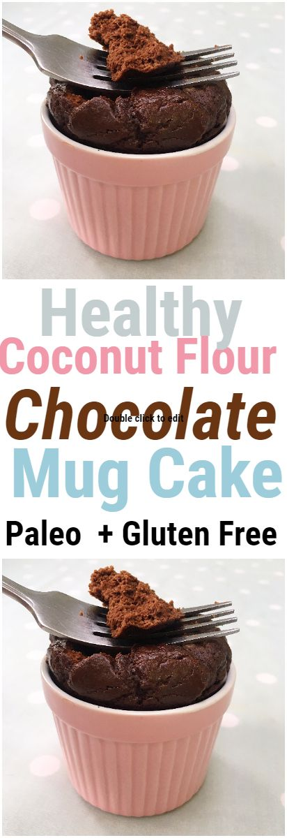 This healthy flourless chocolate mug cake is super fluffy and loaded with chocolate goodness, to satisfy any chocolate and dessert craving! The ingredients are super nourishing and clean – coconut flour, raw cacao powder, maple syrup, vanilla extract, coconut oil, almond milk and an egg. #paleo #paleorecipes #mugcake #chocolatecake #chocolate #cacao #coconutflour #glutenfree #healthy #healthyrecipes #healthydessert #healthydessertrecipes #glutenfree #glutenfreerecipe #healthyrecipes
