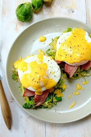 Smoked Duck Poached Eggs Benedict