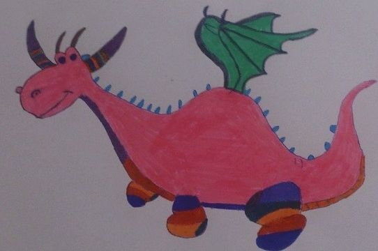 Maria's magical creature by Helen.