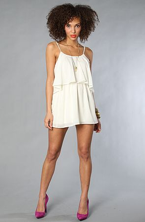 lovers + friends The Sunkissed Dress in Ivory : Karmaloop.com - Global Concrete Culture