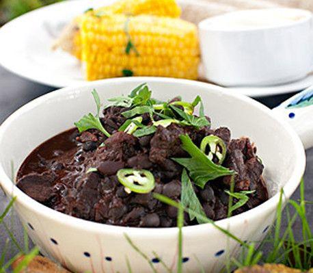 Chili på nötkött med svarta bönor, kakao och öl recept - CrockPot.se