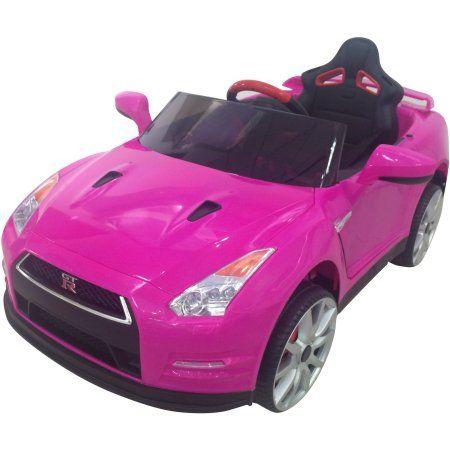 12v Best Ride On Nissan Gtr R35 In Pink Battery Powered Wheels Wonderlanes Toys For Kids Walmart Com Nissan Gtr R35 Nissan Gtr Gtr R35
