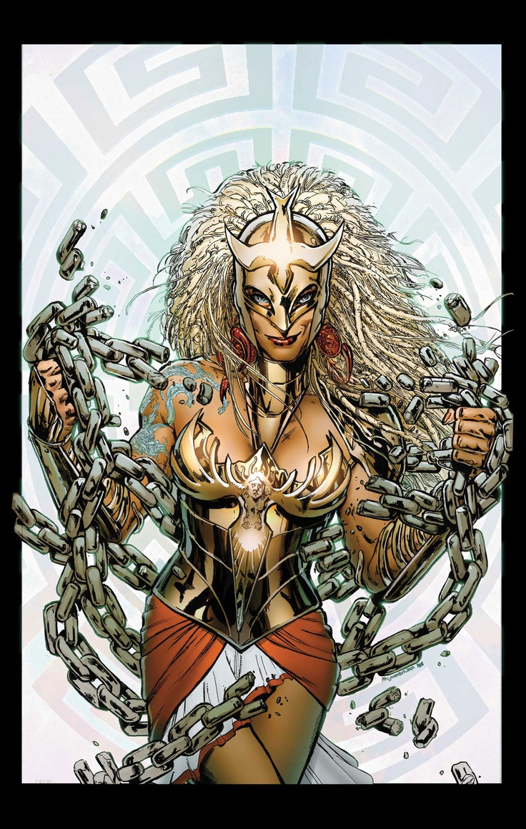 """Fearless Defenders #3 by Phil Jimenez, introducing """"Warrior Woman"""". A bit on the nose but I adore this design and its references to Greek mythology"""