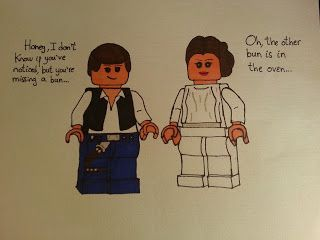 Geeky Lego, Star Wars way to announce pregnancy to my husband!