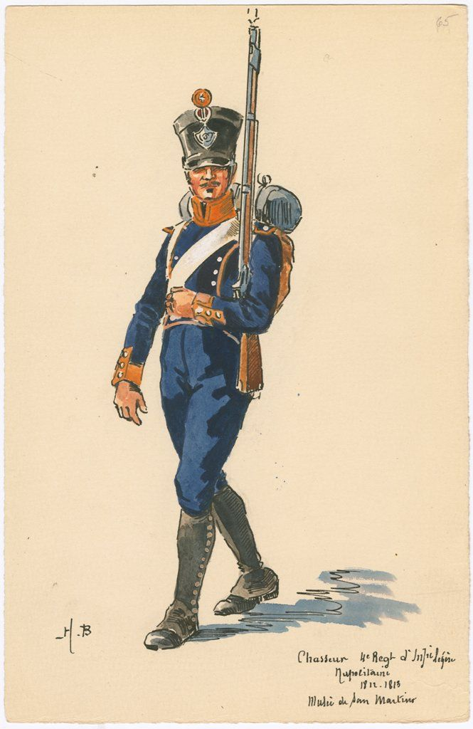 Naples; 4th Light Infantry, Chasseur, 1812