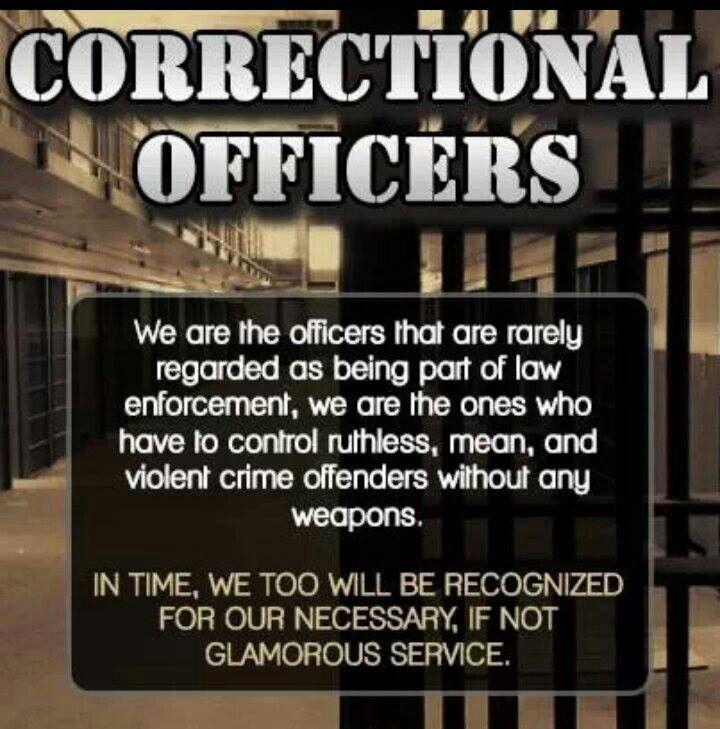 Female Correctional Officer. ✊Word.