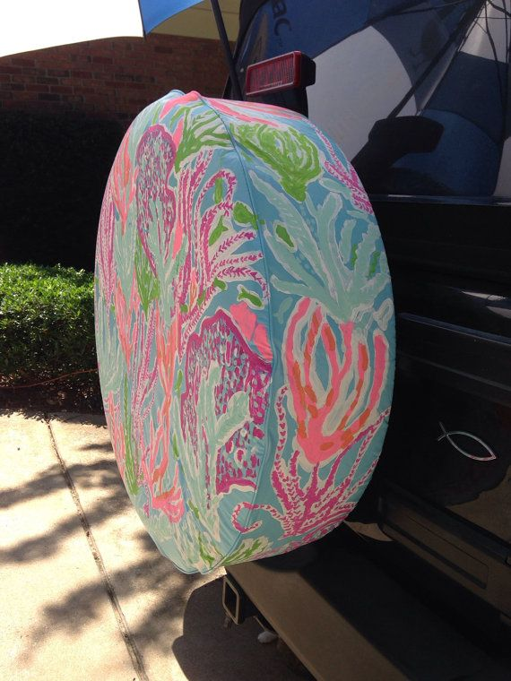 CUSTOM handpainted Lilly Pulitzer Inspired tire by AtTireCovers