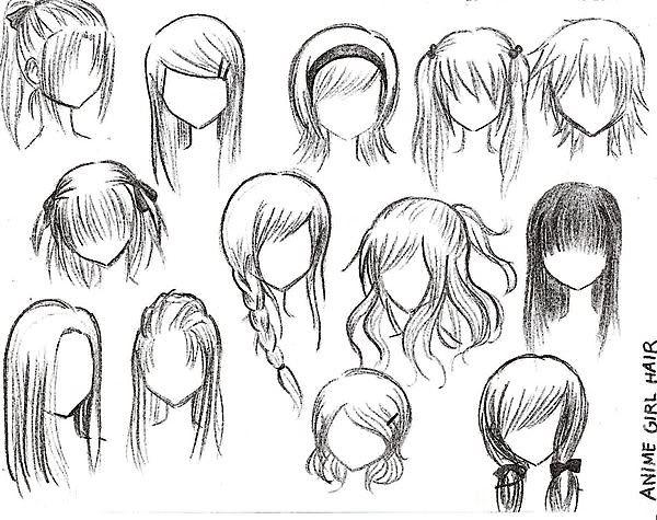 más de 25 bellas ideas sobre dibujos de cabello de mujer en
