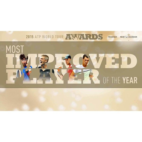 ATP Awards Most Improved 2015 | ATP World Tour | Tennis found on Polyvore