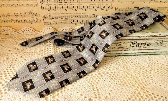Vintage Tie French Silk Tie Necktie Cravat Neckcloth
