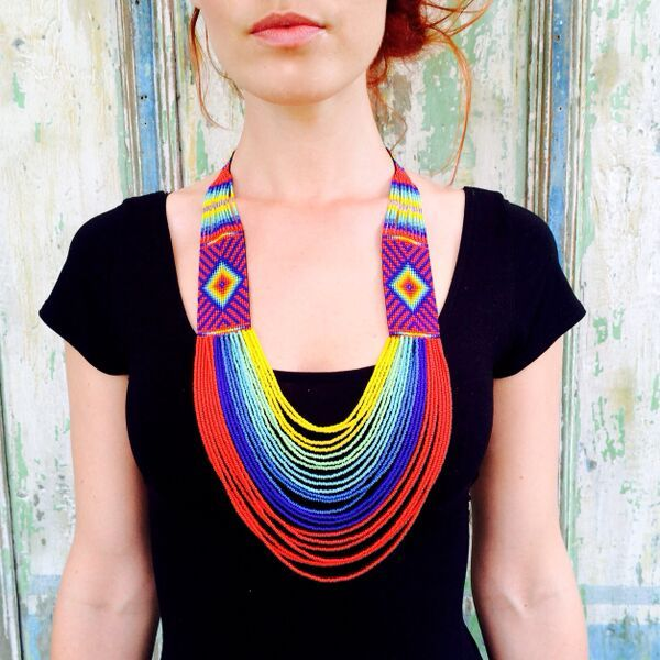 Pachamama necklace by Ilumina Design - Get yours at www.myilumina.com #ayahuasca #kasma #beads #tribal #Colombian #handcrafted #protection