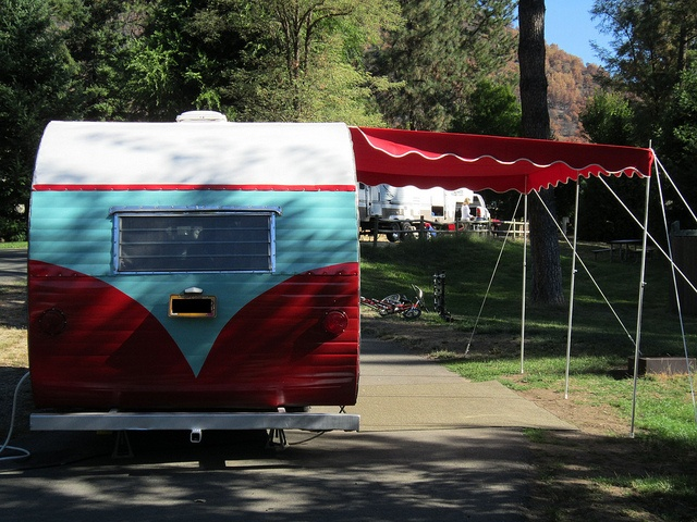 Vintage Camper Awning | ... yellowstone with canopy new awning by marti s vintage trailer awnings